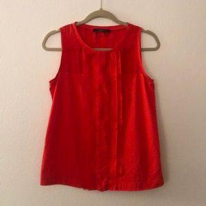 MaxMara Red silk and cotton jersey tank
